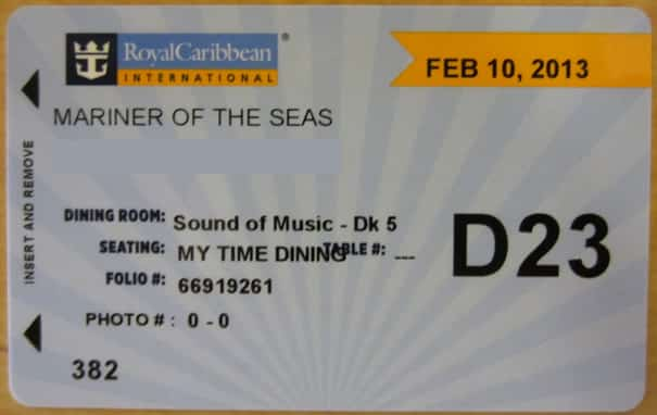 Royal Caribbean key card