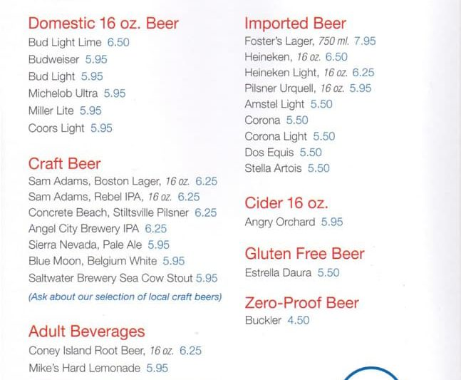 carnival cruise full beer menu with prices cruzely com