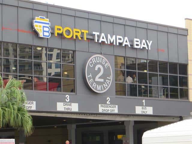 Terminal and parking at Port of Tampa
