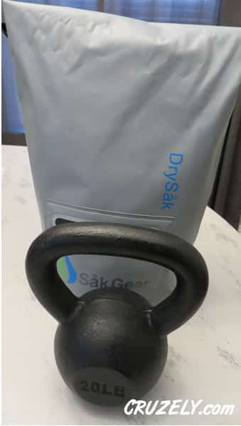 Kettlebell in dry bag