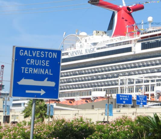 Galveston cruise terminal signs