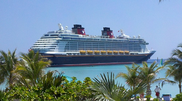 Disney cruise ship in port