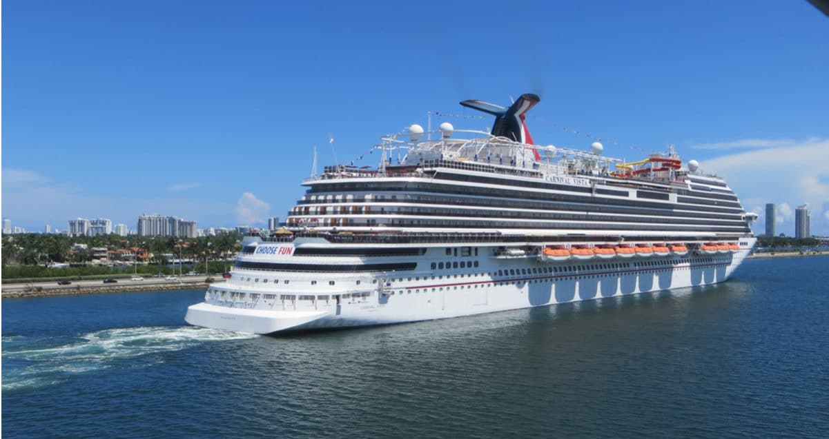 Carnival Vista leaving Port of Miami