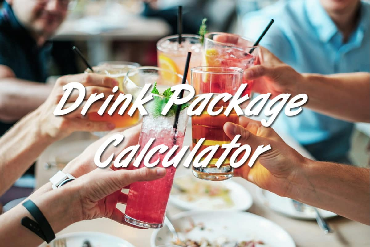 Cruise line drink package calculator