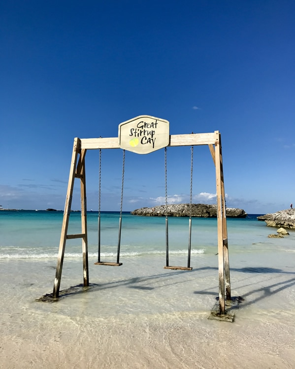 Swings on Great Stirrup Cay