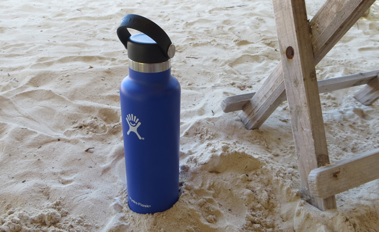 Hydro Flask in the sand