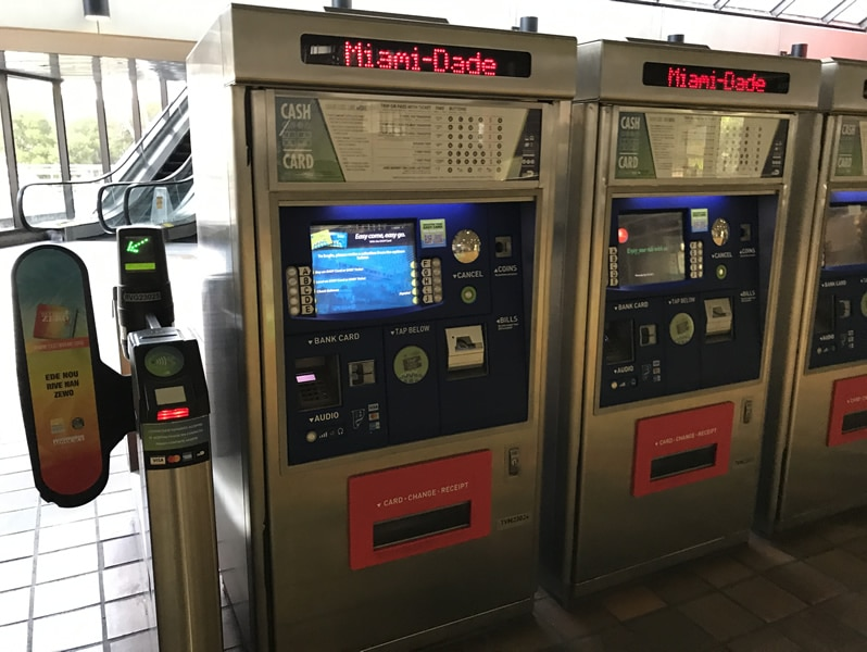 Ticket machine at Government Center, Miami