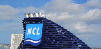 Norwegian cruise exhaust stack