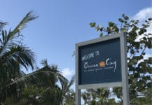 Welcome sign on Ocean Cay