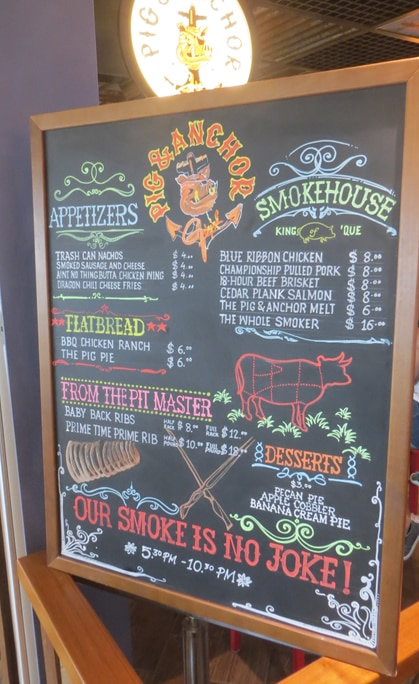 Guy's Pig & Anchor BBQ Menu