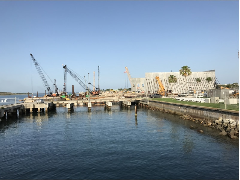 Port Canaveral Terminal 3 construction
