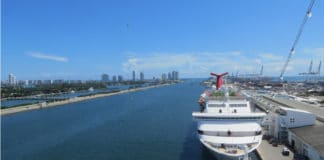 Cruise Ship Docked in Miami