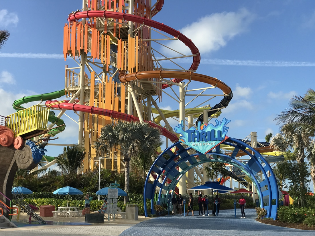 Entrance to Thrill Waterpark on CocoCay